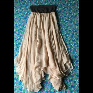 Marc Jacobs Silk Asymmetrical Full Length Skirt
